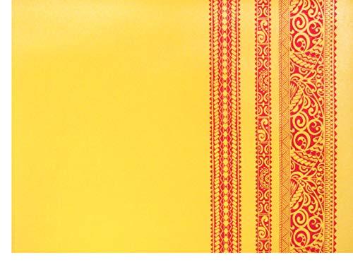 ハワイアンファブリック 生地 【イエロー/レッド・カヒコ柄】 5937の商品画像