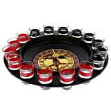 MonkeyJack Russian Lucky Shot Roulette Drinking Game Set Spin Wheel Adult Game Fun Turntable for Business Party Gifts