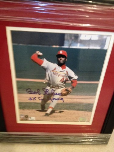 Authentic Bob Gibson Autograph 8x10 St Louis Cardinals Photo w/ Double-matted Frame by MVP TRADING CARDS COMPANY