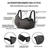 Angelhood Womens Seamless Sleep Nursing Bra,Breastfeeding Maternity Bra with Remove Bra Pads Extenders Pack of 3