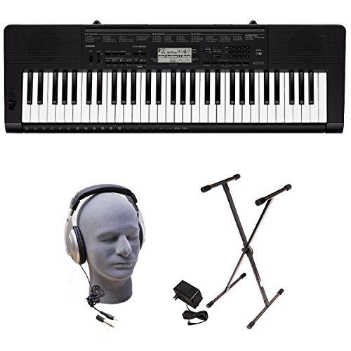 Casio CTK-3500 PPK 61-Key Premium Keyboard Pack with Stand, Headphones & Power Supply (3500 Electronic)