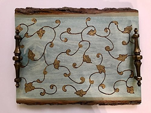 A Midsummer Night's Dream Handmade and Handcrafted Wooden Decorative Coffee Table Tray - Ottoman Tray - Vanity Tray - Elegant Home Or Office Decor Accent
