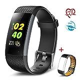 TECKEPIC Smart Fitness Tracker Bracelet - Waterproof Activity Health Tracker Pedometer Wristband