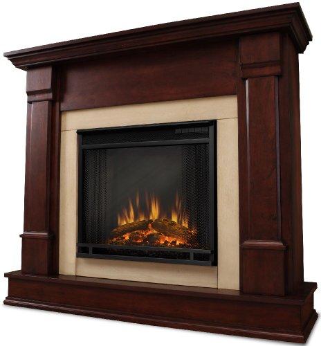 Mahogany Gel Fuel Fireplace (Real Flame RFE-G8600E-DM 4700-BTU Silverton Electric Fireplace, Dark Mahogany)