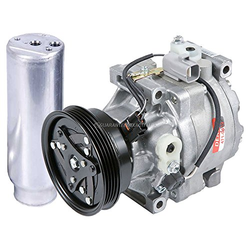 OEM AC Compressor w/A/C Drier For Toyota Paseo & Tercel 1997 1998 - BuyAutoParts 60-87798R4 New (Ac Paseo Compressor Toyota)