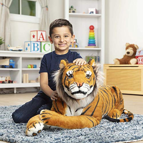 "Melissa & Doug Tiger Giant Stuffed Animal (Wildlife, Soft Fabric, Beautiful Tiger Markings, Hand Crafted, 67"" H x 20"" W x 14"" L)"