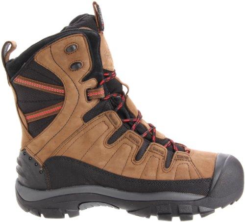 Keen - Botas de senderismo de Piel para hombre Marrón marrón 42
