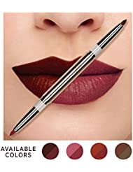 Korean Natural Coconut Oil Conditioning Lip Liner Definer with Dual-ended two colors - Plum & Blossom Pink