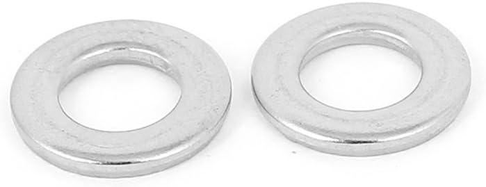 sourcingmap/® 50Stk Silber Ton 304 Edelstahl Flach Unterlegscheiben 1//4 f/ür Schrauben DE de