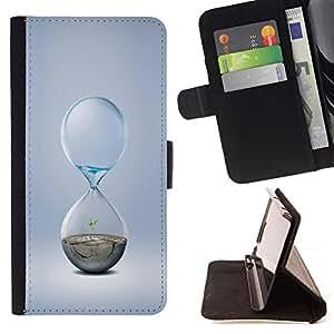 BullDog Case - FOR/Samsung Galaxy Note 4 IV / - / Hourglass Design /- Monedero de cuero de la PU Llevar cubierta de la caja con el ID Credit Card Slots Flip funda de cuer