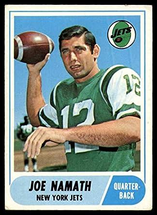 a64af4e0b9e Amazon.com: Football NFL 1968 Topps #65 Joe Namath marked NY Jets ...