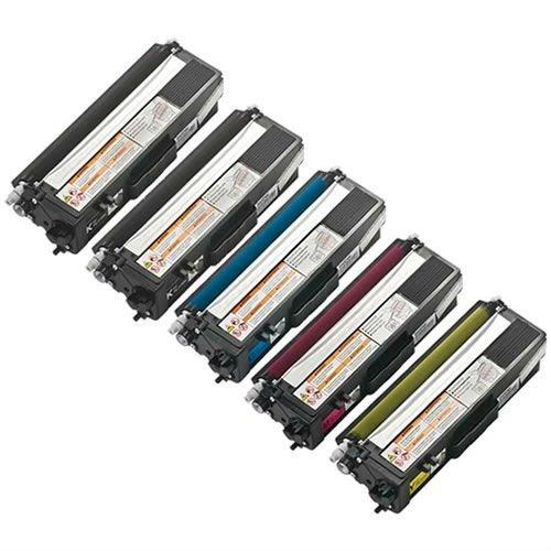 Toner Tech- 6PK TN-315 High Yield Toner Cartridges: 3X Blacks, 1 Cyan, 1 Magenta , 1 Yellow for use in HL-4150cdn, HL4570cdw, HL-4570cdwt, MFC-9460cdn, MFC-9560cdw & MFC-9970cdw