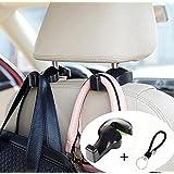 Headrest Car Hooks, Yakecan Universal Car Vehicle Back Seat Headrest Hanger Holder Hook for Shopping Bag Purse Cloth Grocery (Black -Set of 2)