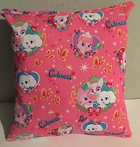 "Palace Pets Pillow Princess Pets Beauty, Pumpkin, Lily, Disney, Fur-Ever Friends, Handmade in USA Pillow is approximately 10"" X 11"