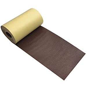 Newmemo Leather Tape 3 X 60 Inches Self-Adhesive Leather Repair Patch for Sofas, Couches, Furniture, Car Seat, Motorcycle Seat, Chairs, Recliner, Bags, Jackets (Brown)
