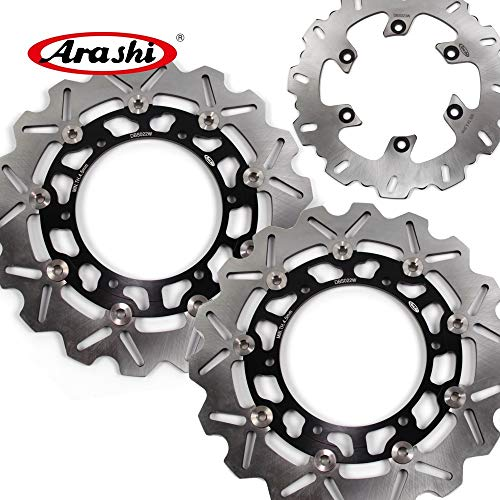 Yzf600 Brake Rear (Arashi For Yamaha YZF600R THUNDERCAT 1996-2004 Floating Front Rear Brake Disc Rotor Disk Kit Motorcycle Accessories YZF 600 R YZF600 600R 1997 1998 1999 2000 2001 2002 2003 Black TDM 900 TDM900)