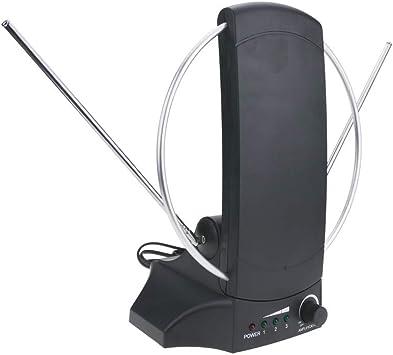 BeMatik - Antena de interior de TV TDT UHF VHF DVBS de 36dB ...