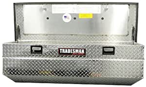 "Lund/Tradesman TAWB60SF 60"" Mid-Size Aluminum Flush Mount Truck Tool Box with Single Lid"
