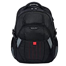 KALIDI Gaming Laptop Backpack 17.3 Inch,Shockproof Travel Rucksack USB Backpack for Dell, Asus, Msi,Hp Gaming Laptops (Black)