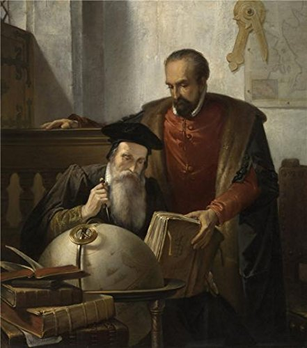 Oil Painting 'Joseph Bellemans - Mercator And Ortelius, 19th Century' 20 x 23 inch / 51 x 58 cm , on High Definition HD canvas prints is for Gifts And - Sunglasses Marin Jacob