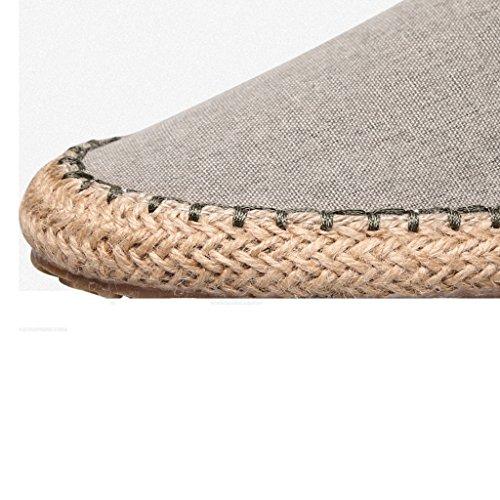 vecchia CN40 da Pechino pescatore dimensioni Cachi Scarpe shoes paglia XIANG tempo libero di da Colore canvas EU39 SHI UK6 uomo SHOP LI estate Nero traspirante pigro tela 5 H0FqUvF