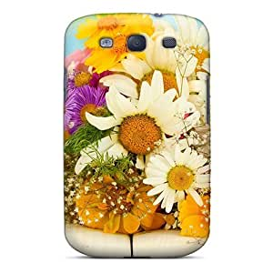 Galaxy Cover Case - Nature Flowers Flower Bouquet Protective Case Compatibel With Galaxy S3