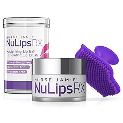 Nurse Jamie Nulips RX Moisturizing Lip Balm & Exfoliating Lip Brush, White/Purple