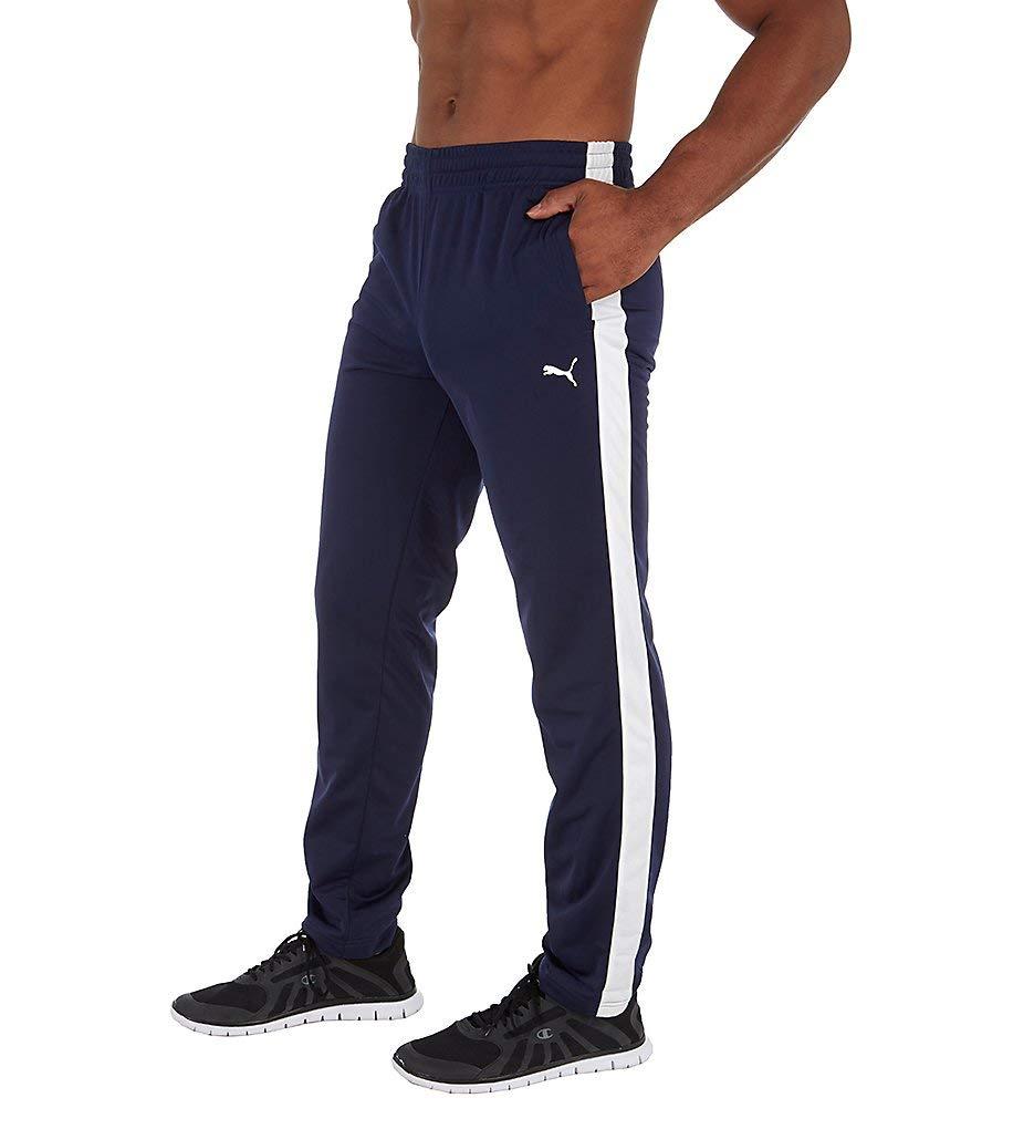 PUMA Men's Contrast Pants, Peacoat White, 3XL