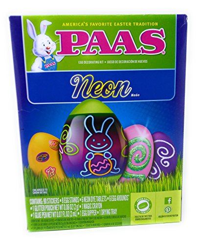 Happy Paas Egg Decorating Kit Easter Basket Kids Toddlers Gift Children Pre Made Girls Boys Eggs Dying Coloring Cups Color Neon by Easter