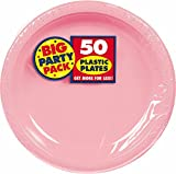 New Pink Plastic Luncheon Plates Big Party Pack, 50 Ct.