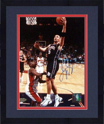 Framed Jason Kidd New Jersey Nets Signed Lay-up vs. the Warriors 8x10 Photograph - Steiner Sports Certified (New Jersey Kidd Nets Jason Jersey)