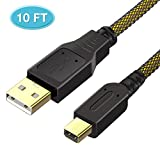 6amLifestyle 10FT 3DS Charging Cable, High Speed Premium USB Power Charger for Nintendo 3DS XL/3DS/2DS/DSi/DSi XL …