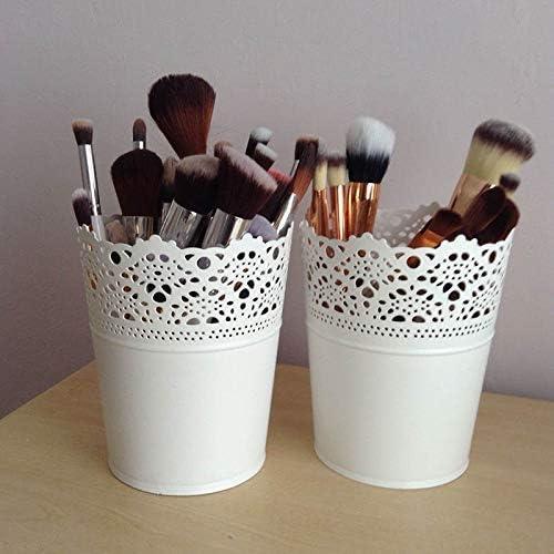 hohl Abilie Blument/öpfe mit Spitze Make-up-Pinsel 2 St/ück Kerzenhalter f/ür Schreibtischdekoration Aufbewahrung