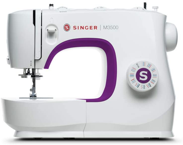 SINGER | M3500 Sewing Machine with 110 Stitch Applications, & Built-In Needle Threader - Perfect for Beginners - Sewing Made Easy
