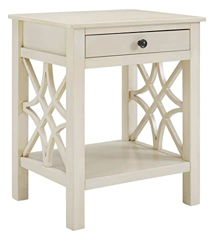Whitley End Table In Antique White