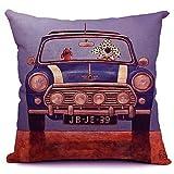 Etaovip Polyester Decorative Faux Linen Look Hand Made Throw Pillow Cover Cushion PillowCase ( 20*30 )