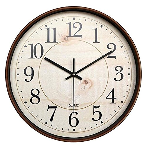 Bekith 14-Inch Retro Clock Large Indoor/Outdoor Decorative Non-Ticking Silent Wall Clock (Large Outdoor Clocks For Walls)