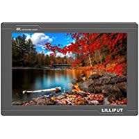 LILLIPUT FS7 7 Full HD Camera Monitor with 3G-SDI and 4K HDMI Metal Housing High Resolution F970 Plate for Camcorder DSLR