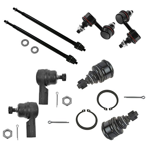 Lower Ball Joint Inner Outer Tie Rod End Sway Bar Link Set of 8 for 01-05 Civic ()