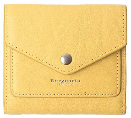 - Small Leather Wallet for Women, RFID Blocking Women's Credit Card Holder Mini Bifold Pocket Purse (Limited Edition-Ice Yellow)
