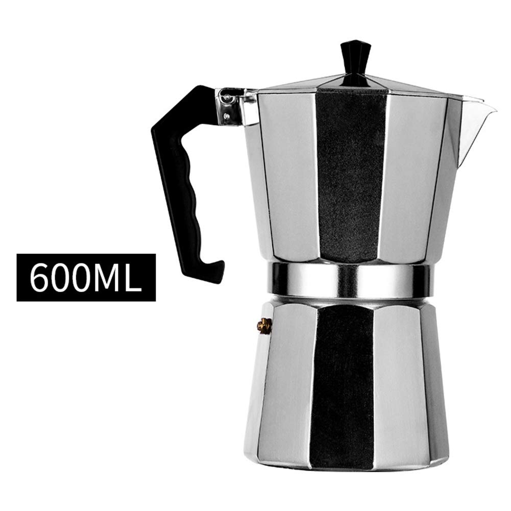Anpay Classic Aluminum Coffee Pot Household Mocha Coffee Pot European Style Octagonal Coffee Pot for Perfect Coffee and Tea - Teapot with Max Line by Anpay