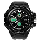 Men's Waterproof Outdoor Sports Watch & Led Summer Swimming Diving Male Watch Fashion Sports Watch Black Color