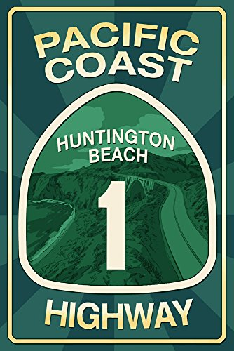 Highway 1, California - Huntington Beach - Pacific, used for sale  Delivered anywhere in USA