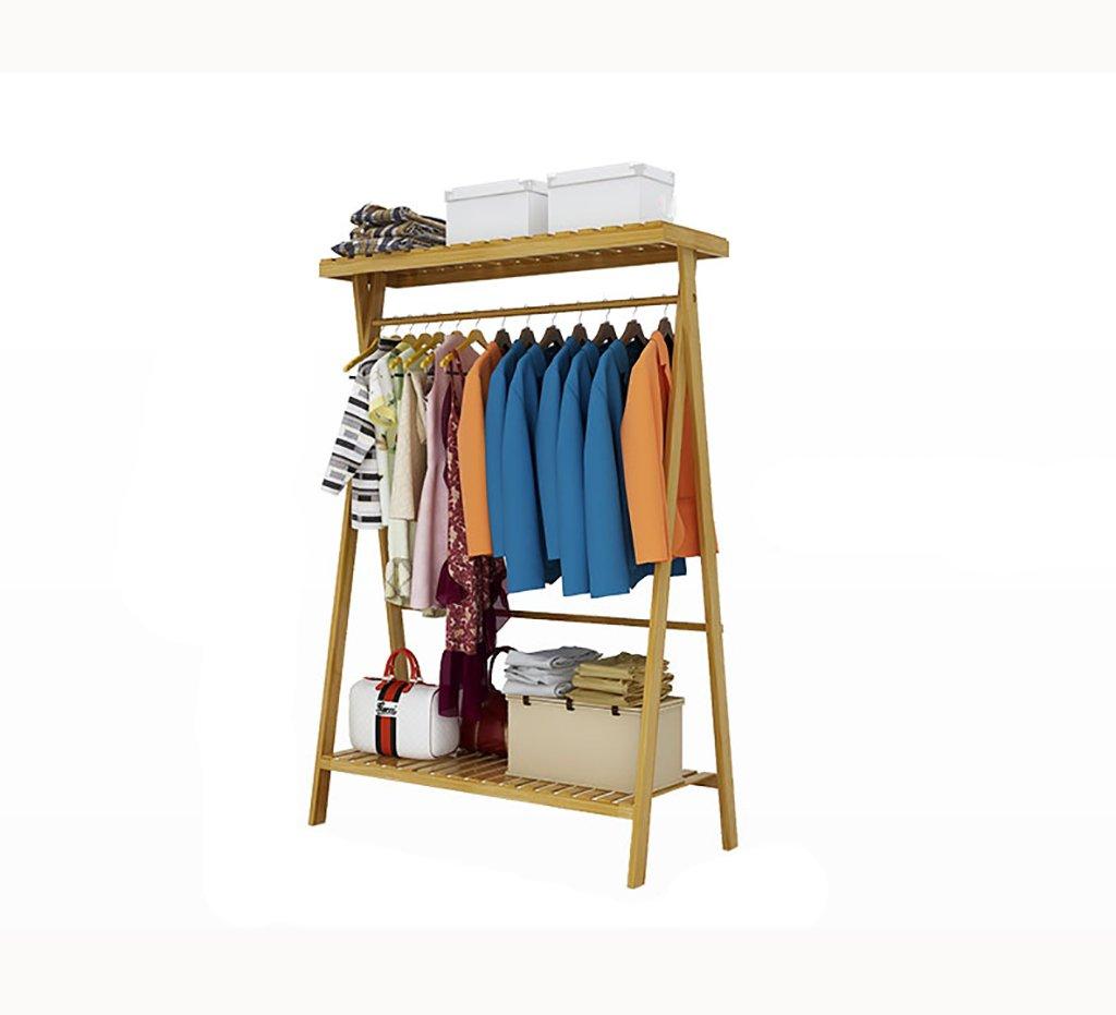 棚に吊り下げた衣類床置きのコートラックラックアセンブリ木製のハンガー床置きのベッドルーム (サイズ さいず : 90cm) 90cm  B07JMRXRSL