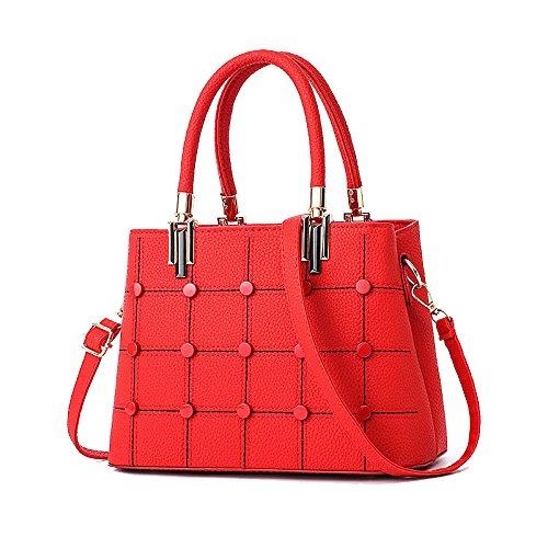 ZLL Women's bag Bolsa De Asas De Las Mujeres Bolso Casual Elegante Diagonal Bolsa Red