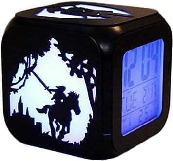 CHENGL R/éveil St/ér/éo 3D /à LED Zelda Legend Nuit Cr/éative R/éveil /électronique Sept Couleurs
