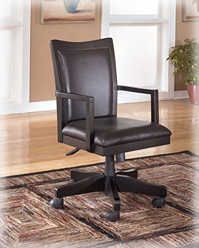 Ashley Furniture Signature Design   Carlyle Home Office Desk Chair   Faux  Leather Swivel Chair