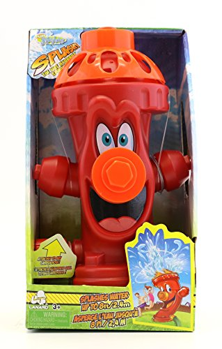 Outdoor Water Play (Kids Sprinkler Fire Hydrant, Attach Water Sprinkler for Kids to Garden Hose for Backyard Fun, Splash All Summer Long, Sprays Up to 8 Ft.(Red))
