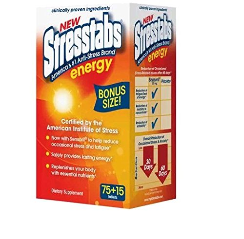 Stresstabs Anti Stress Energy Tablet (Pack of 2) 90 Tablets (180 total) (Best Vitamins For Energy And Stress)