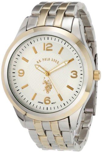 U.S. Polo Assn. Classic Men's USC80032 Two-Tone Silver Dial Bracelet Watch